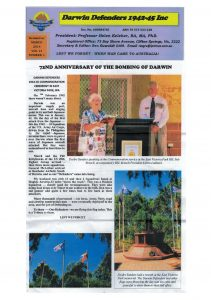 2014 Article from Darwin Defenders Day Magazine