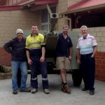 The team responsible for moving the field gun at Victoria Park RSL